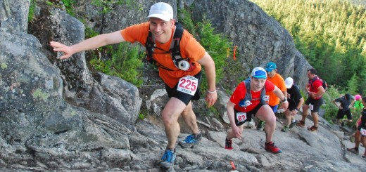 Ascending to Eagle Bluffs, Cypress Provincial Park at the 2014 Knee Knacker (photo credit: Karen Chow)